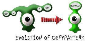 Evolution of copypasters